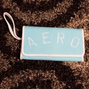 Light Blue Aeropostale Trifold wallet